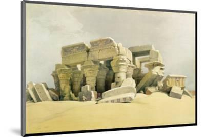 """Ruins of the Temple of Kom Ombo, from """"Egypt and Nubia"""", Vol.1 (Litho) (See also 84718)-David Roberts-Mounted Premium Giclee Print"""