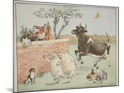 The Cat and the Fiddle, Illustration from 'Hey Diddle Diddle and Bye, Baby Bunting', 1882-Randolph Caldecott-Mounted Giclee Print