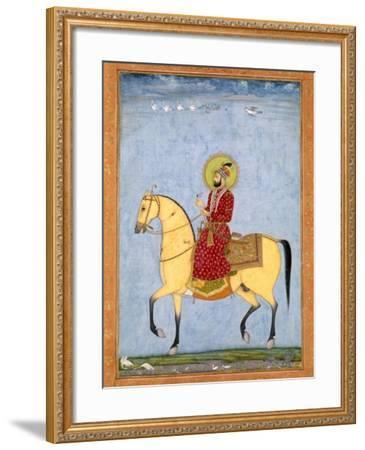 The Mughal Emperor Farrukhsiyar(1683-1719) (R.1713-19), from the Large Clive Album-Mughal-Framed Giclee Print