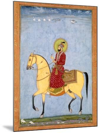 The Mughal Emperor Farrukhsiyar(1683-1719) (R.1713-19), from the Large Clive Album-Mughal-Mounted Giclee Print