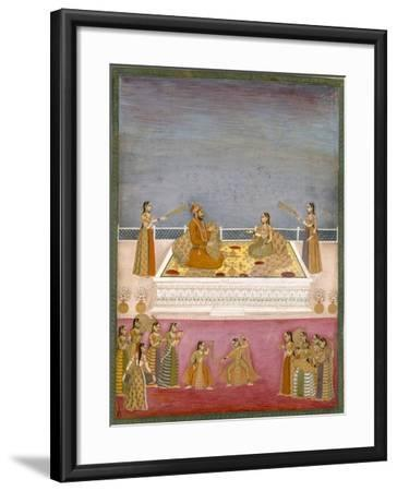 The Young Mughal Emperor Muhammad Shah at a Nautch Performance (1719-48), C.1725-Mughal-Framed Giclee Print