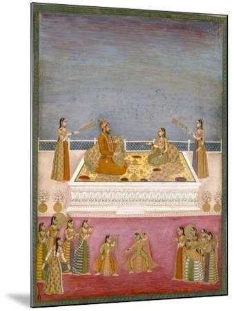 The Young Mughal Emperor Muhammad Shah at a Nautch Performance (1719-48), C.1725-Mughal-Mounted Giclee Print