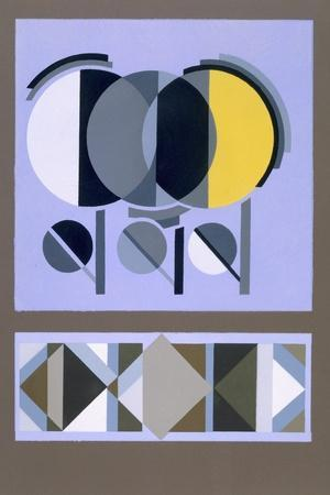 Designs from 'Relais', C.1920S-1930 (Colour Litho)-Edouard Benedictus-Stretched Canvas Print