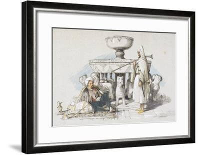 The Fountain of the Lions, Vignette from 'sketches and Drawings of the Alhambra', 1835 (Litho)-John Frederick Lewis-Framed Giclee Print