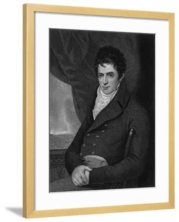 Robert Fulton (1765-1815), Engraved by George Parker (Fl.1834-D.1868) (Engraving)-Benjamin West-Framed Giclee Print