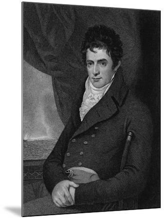 Robert Fulton (1765-1815), Engraved by George Parker (Fl.1834-D.1868) (Engraving)-Benjamin West-Mounted Giclee Print