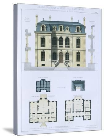 Design from 'Town and Country Houses Based on the Modern Houses of Paris', C.1864 (Colour Litho)- Leblanc-Stretched Canvas Print
