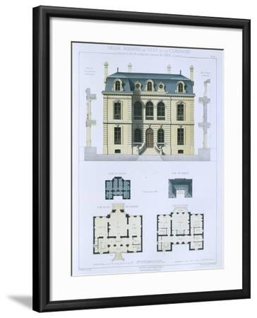 Design from 'Town and Country Houses Based on the Modern Houses of Paris', C.1864 (Colour Litho)- Leblanc-Framed Giclee Print