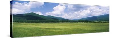 Clouds over Mountains, Cades Cove, Great Smoky Mountains, Great Smoky Mountains National Park, T...--Stretched Canvas Print