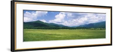 Clouds over Mountains, Cades Cove, Great Smoky Mountains, Great Smoky Mountains National Park, T...--Framed Photographic Print