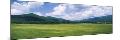 Clouds over Mountains, Cades Cove, Great Smoky Mountains, Great Smoky Mountains National Park, T...--Mounted Photographic Print