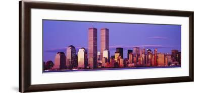 Skyscrapers in a City, Manhattan, New York City, New York State, USA--Framed Photographic Print