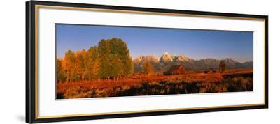 Sunrise Grand Teton National Park WY USA--Framed Photographic Print