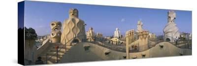 Casa Mila Barcelona Spain--Stretched Canvas Print