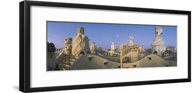 Casa Mila Barcelona Spain--Framed Photographic Print