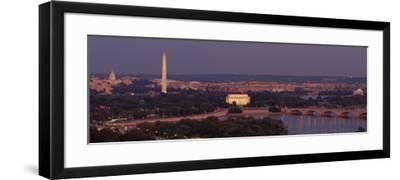 USA, Washington DC, Aerial, Night--Framed Photographic Print