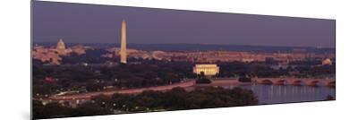 USA, Washington DC, Aerial, Night--Mounted Photographic Print