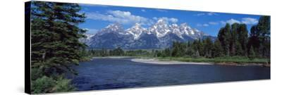 Snake River and Grand Teton WY USA--Stretched Canvas Print