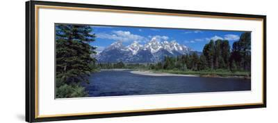 Snake River and Grand Teton WY USA--Framed Photographic Print
