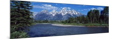 Snake River and Grand Teton WY USA--Mounted Photographic Print