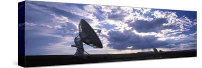 Clouds over a Radio Telescope, Very Large Array, National Radio Astronomy Observatory, Socorro, ...--Stretched Canvas Print