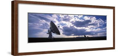 Clouds over a Radio Telescope, Very Large Array, National Radio Astronomy Observatory, Socorro, ...--Framed Photographic Print