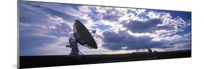 Clouds over a Radio Telescope, Very Large Array, National Radio Astronomy Observatory, Socorro, ...--Mounted Photographic Print