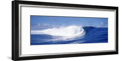 Rough Waves in the Sea, Tahiti, French Polynesia--Framed Photographic Print