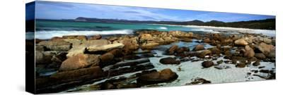Rocks on the Beach, Friendly Beaches, Freycinet National Park, Tasmania, Australia--Stretched Canvas Print