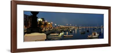 Boats at a Harbor, Bari, Itria Valley, Puglia, Italy--Framed Photographic Print
