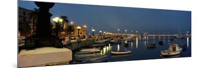 Boats at a Harbor, Bari, Itria Valley, Puglia, Italy--Mounted Photographic Print