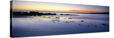 Beach at Sunrise, Jeanneret Beach, Bay of Fires National Park, Tasmania, Australia--Stretched Canvas Print