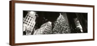 Christmas Tree Lit Up at Night, Rockefeller Center, Manhattan, New York City, New York State, USA--Framed Photographic Print