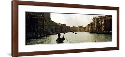 Gondolas in the Canal, Grand Canal, Venice, Veneto, Italy--Framed Photographic Print