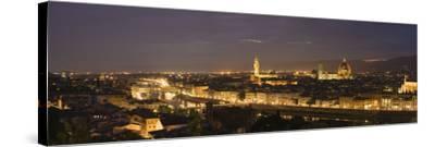 Buildings in a City, Ponte Vecchio, Arno River, Duomo Santa Maria Del Fiore, Florence, Tuscany, ...--Stretched Canvas Print