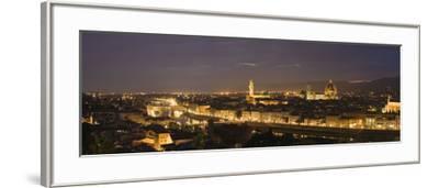 Buildings in a City, Ponte Vecchio, Arno River, Duomo Santa Maria Del Fiore, Florence, Tuscany, ...--Framed Photographic Print