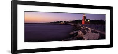 Lighthouse on the Coast, Big Red Lighthouse, Holland, Michigan, USA--Framed Photographic Print