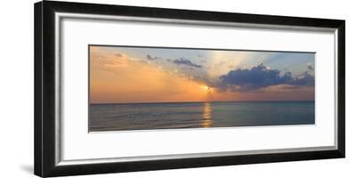 Sunset over Gulf of Mexico from Venice, Sarasota County, Florida, USA--Framed Photographic Print