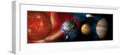 Sun and Planets--Framed Photographic Print
