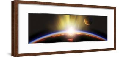 Sunrise over Earth--Framed Photographic Print