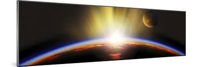 Sunrise over Earth--Mounted Photographic Print