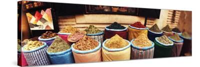 Spice Market Inside the Medina in Marrakesh, Morocco--Stretched Canvas Print