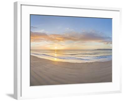 Sunrise over the Sea, Tenby, Pembrokeshire, Wales--Framed Photographic Print