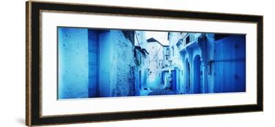 Narrow Streets of the Medina are All Painted Blue, Chefchaouen, Morocco--Framed Photographic Print