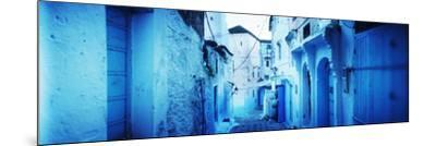 Narrow Streets of the Medina are All Painted Blue, Chefchaouen, Morocco--Mounted Photographic Print