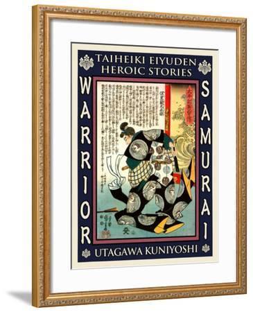 Samurai Mori Nagasada-Kuniyoshi Utagawa-Framed Giclee Print
