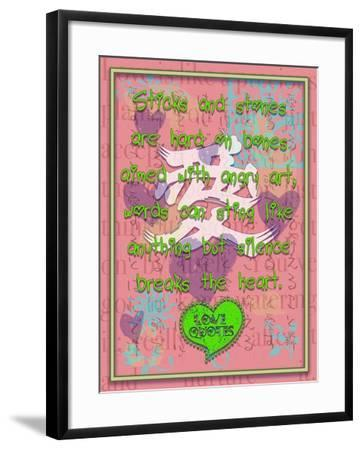 Sticks and Stones are Hard on Bones-Cathy Cute-Framed Giclee Print