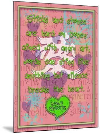 Sticks and Stones are Hard on Bones-Cathy Cute-Mounted Giclee Print