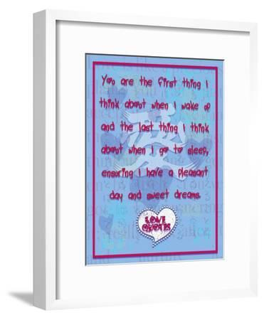 You are the First Thing I Think About-Cathy Cute-Framed Giclee Print