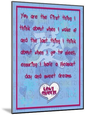 You are the First Thing I Think About-Cathy Cute-Mounted Giclee Print